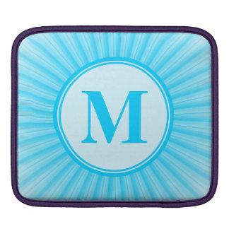 Blue Rays of Light Monogram iPad Sleeve