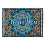 Blue Rays Thank You Card Template