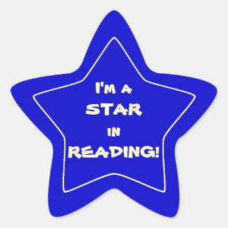 Blue Reading Star Student Star Sticker