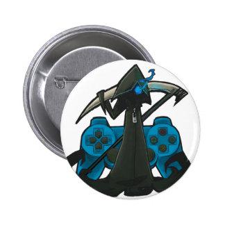 Blue Reaper Badge Pinback Button