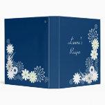 Blue Recipe Book Binder