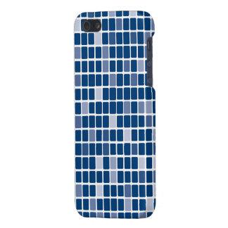 Blue Rectangle Mosaic iPhone SE/5/5s Case