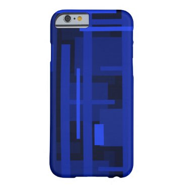 Blue Rectangles Barely There iPhone 6 Case