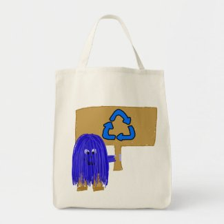 Blue recycle bag