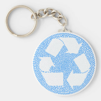 Blue Recycle Keychain