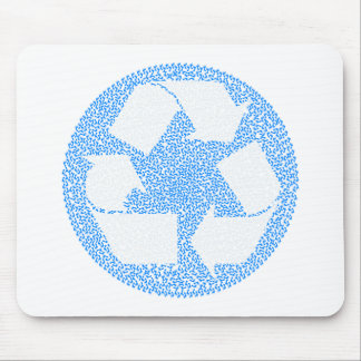 Blue Recycle Mouse Pads