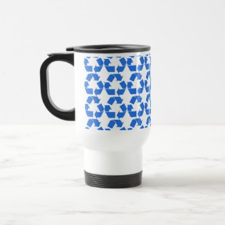 Blue Recycle Coffee Mugs
