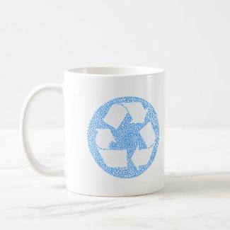 Blue Recycle mug