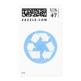 Blue Recycle Postage