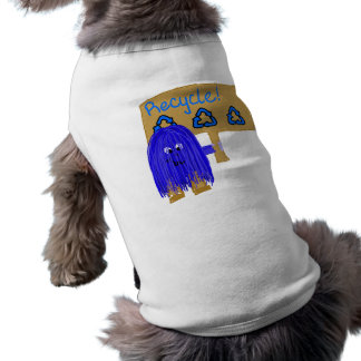 Blue Recycle sign Doggie Tee Shirt