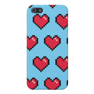 Blue Red 8-Bit Pixel Heart iPhone SE/5/5s Cover