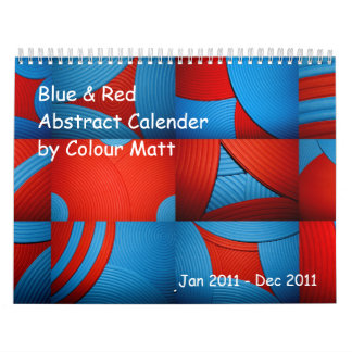 Blue & Red Abstract 2011 Calendar Wall Calendar