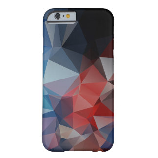 Blue Red Abstract Pyramid Pattern Barely There iPhone 6 Case