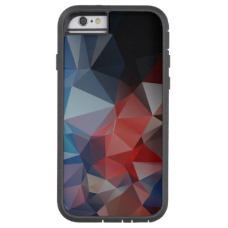 Blue Red Abstract Pyramid Pattern Tough Xtreme iPhone 6 Case