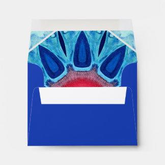 Blue Red and Aqua Mandala A2 Blue Envelope