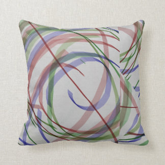 Blue Red and Green Marker Lines Throw Pillow