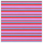 [ Thumbnail: Blue, Red, and Violet Striped/Lined Pattern Fabric ]
