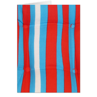 Blue Red and White Pillow Pattern Card