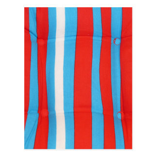 Blue Red and White Pillow Pattern Postcard