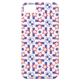 Blue, Red and Yellow Starburst Design iPhone 5 Cases