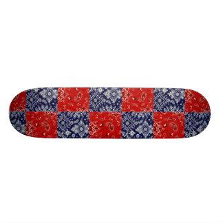 Blue & Red Bandana Skateboard