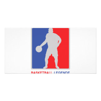 blue red basketball legend icon card