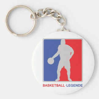 blue red basketball legend icon keychain