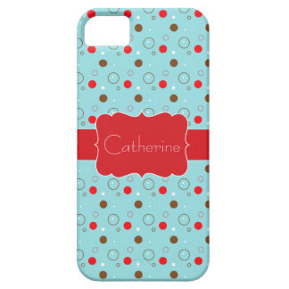 Blue Red Brown Bubble pattern name iPhone 5 iPhone SE/5/5s Case
