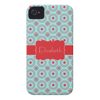Blue Red Brown Circle pattern name iPhone 4/4s iPhone 4 Case-Mate Case