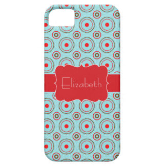 Blue Red Brown Circle pattern name iPhone 5 iPhone SE/5/5s Case