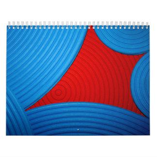 Blue & Red Calendar (July 2010 - June 2011) Wall Calendar