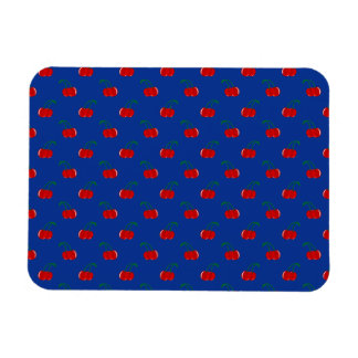 Blue red cherry pattern flexible magnets