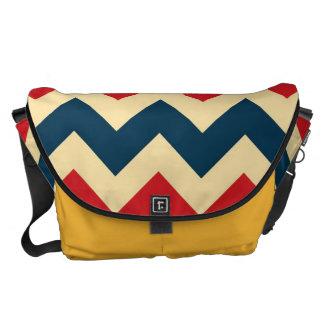 Blue Red Chevron Zigzap Pattern Courier Bag