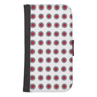 Blue red circle phone wallet
