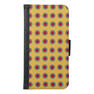 Blue red circle samsung galaxy s6 wallet case