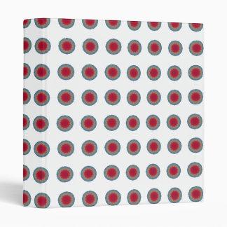 Blue red circle vinyl binder