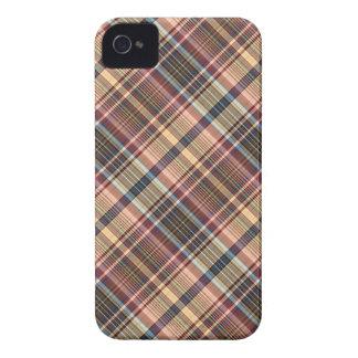 Blue red cream plaid Case-Mate iPhone 4 case