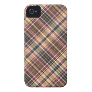 Blue red cream plaid Case-Mate iPhone 4 case