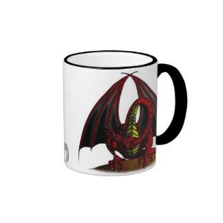 Blue & Red Dragon-MUG Ringer Coffee Mug