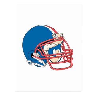 Blue & Red Football Helmet Postcard