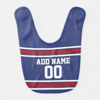 Blue Red Football Jersey Custom Name Number Bib