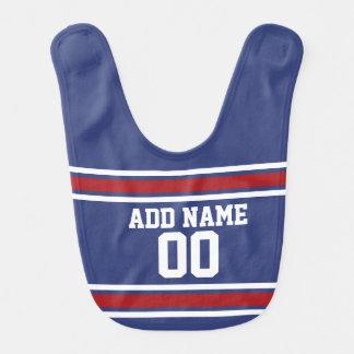 Blue Red Football Jersey Custom Name Number Bib