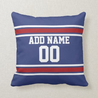 Football Jersey Custom Throw Pillow