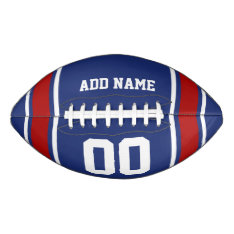 Blue|red Football Jersey Stripes at Zazzle