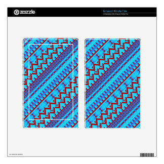 Blue Red Geo Abstract Aztec Tribal Print Pattern Kindle Fire Decal
