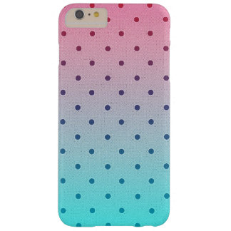 Blue Red Gradiant. Black Polka Dots Pattern Barely There iPhone 6 Plus Case