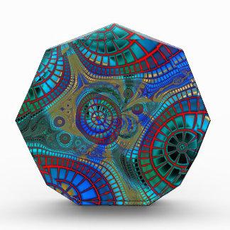 Blue Red Green Fractals Modern Art Acrylic Award