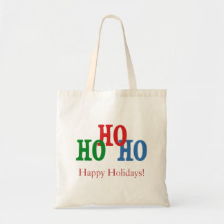 Blue, Red & Green Happy Holidays Tote Bag
