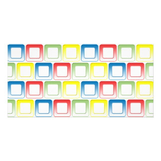 Blue Red Green Yellow frames pattern Card