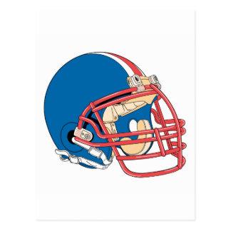 Blue & Red helmet Postcard